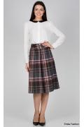 Клетчатая юбка Emka Fashion 219-70/federika