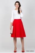 Юбка красного цвета Emka Fashion 530-vitalina