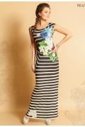 Длинное полосатое платье TopDesign Premium PA5 67