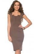 Коричневое платье Donna Saggia DSP-63-39t