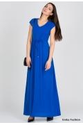 Длинное синее платье Emka Fashion PL-414/kelly