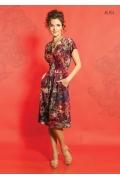 Летнее трикотажное платье TopDesign A5 074