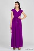 Длинное платье фиолетового цвета Emka Fashion PL-414/titana