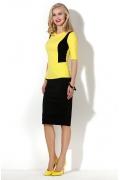 Жёлтая блузка с вырезом на спине Donna Saggia DSB-01-53t