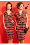 Чёрно-красное платье TopDesign A5 107