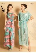 Длинное платье без рукавов TopDesign Premium PA5 56