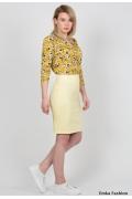 Светло-жёлтая юбка Emka Fashion 391-amaldeya