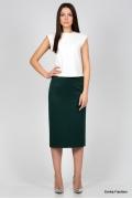 Тёмно-зеленая Юбка Emka Fashion 501-rafaella