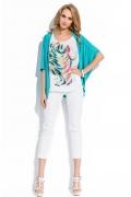 Кардиган бирюзового цвета Sunwear R38-4