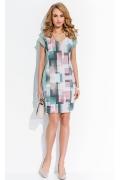 Платье с геометрическим рисунком Sunwear RS58-3