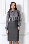 Модная полупрозрачная блузка / 4620
