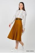 Горчичная юбка Emka Fashion 525-raspberry