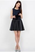Юбка-солнце тёмного-синего цвета Emka Fashion 509-stelara
