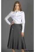 Длинная серая юбка Emka Fashion | 108-rosemayer