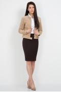 Юбка коричневого цвета Emka Fashion 533-labiba