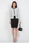 Простая юбка чёрного цвета Emka Fashion 212-zlata