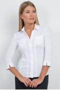 Белая офисная блузка Emka Fashion b 2110/dulma