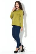 Блузка фисташкового цвета Donna Saggia DSB-28-83t