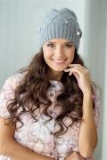 Женская шапка в рельефный ромбик Landre Лара