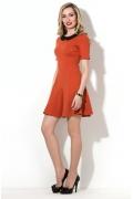 Короткое платье с чёрным воротником Donna Saggia DSP-212-21t