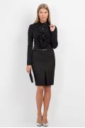 Чёрная офисная юбка Emka Fashion 545-ofeliya