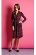 Бордовое платье TopDesign B5 031