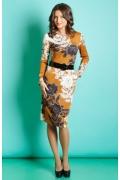 Красивое осенне-зимнее платье TopDesign B5 048
