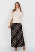 Длинная юбка в клетку Emka Fashion 314-grafinya