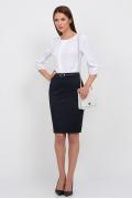 Блузка белого цвета Emka Fashion b 2101/petra