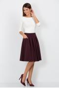 Юбка цвета бордо Emka Fashion 552-rozana