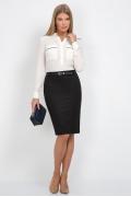 Чёрная юбка-карандаш Emka Fashion 556-almaza
