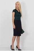 Тёмно-синяя юбка-карандаш Emka Fashion 498-olesya
