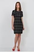 Стильное чёрно-белое платье Emka Fashion PL-422/polina