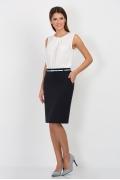 Тёмно-синяя юбка-карандаш Emka Fashion 556-olesya