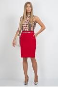 Красная юбка Emka Fashion 556-banni