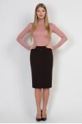 Коричневая юбка-карандаш Emka Fashion 369-labiba