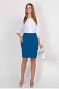 Голубая юбка Emka Fashion 580-goluba