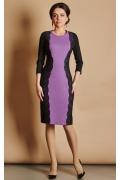Чёрно-сиреневое платье TopDesign B5 070
