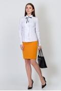 Изящная юбка горчичного цвета Emka Fashion 558-raisa