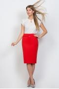 Юбка-карандаш красного цвета Emka Fashion 369-madina