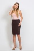 Юбка коричневого цвета Emka Fashion 442-stanislava