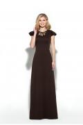 Платье в пол шоколадного цвета Donna Saggia DSP-221-70t