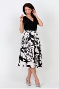 Чёрно-белая юбка Emka Fashion 582-lessi