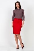 Красная юбка-карандаш Emka Fashion 556-galateya