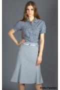 Светлая расклешенная юбка Emka Fashion | 109-selestine1