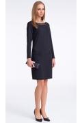 Стильное чёрное платье Sunwear US219