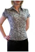 Блузка серого цвета | Б546-1188