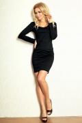 Короткое чёрное платье с длинным рукавом SAF 92-2
