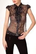 Блузка из чёрного шёлка | Б692-786