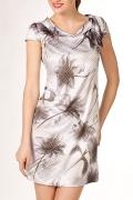Летнее платье из атласа | П92-1118